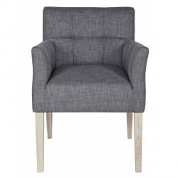 Chaise fauteuil design confortable tissu gris