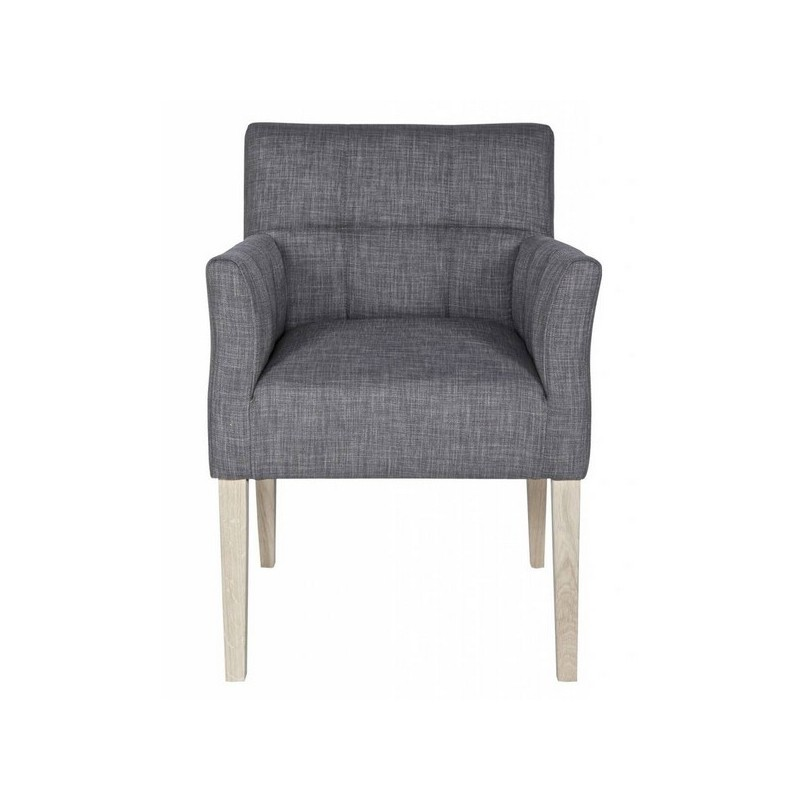 chaise fauteuil design confortable tissu gris woood. Black Bedroom Furniture Sets. Home Design Ideas