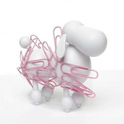 Range trombones magnétique rigolo chien blanc cubic poodle