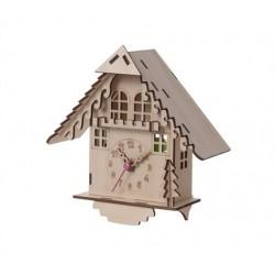 Horloge maison en bois DIY House karlsson
