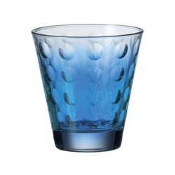Verre bleu design bas leonardo optic (set de 6)