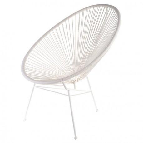 Chaise fauteuil acapulco blanc la chaise longue - La chaise longue rouen ...