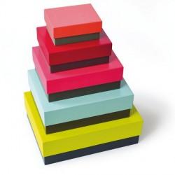 Remember BX04 Due Colori set of 5 Decorative Multicolour Storage Boxes