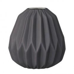 Vase noir mat porcelaine bloomingville diamond
