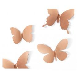 Décoration murale papillons cuivre umbra mariposa