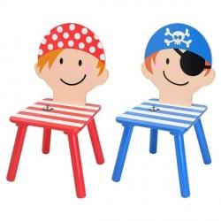 Petite chaise enfant pirate la chaise longue (set de 2)