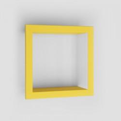 Presse Citron Bigstick Square Wall Shelf yellow