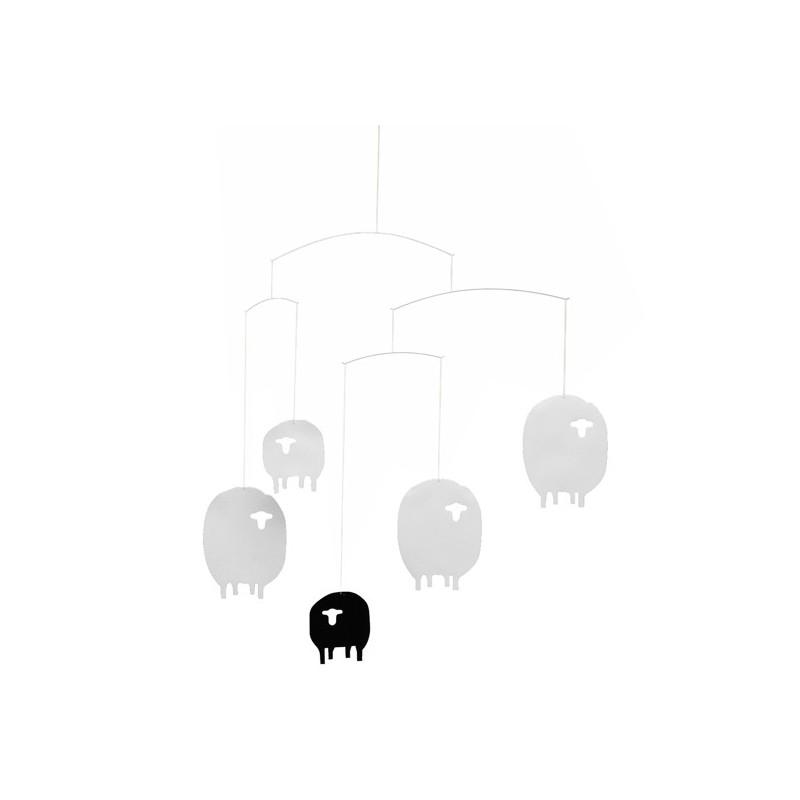 mobile pour berceau flensted moutons. Black Bedroom Furniture Sets. Home Design Ideas