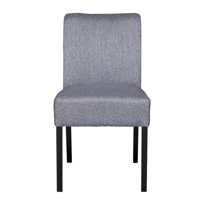 chaise tissu gris bois noir woood wieke. Black Bedroom Furniture Sets. Home Design Ideas