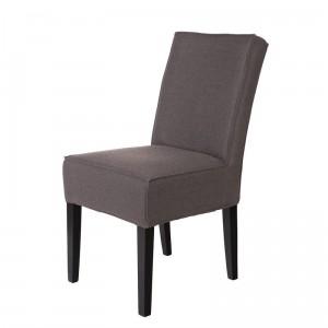 Chaise design tissu gris taupe woood jesse