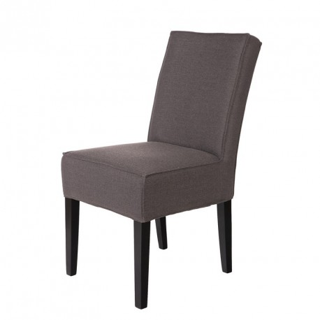 Chaise design tissu gris woood jesse