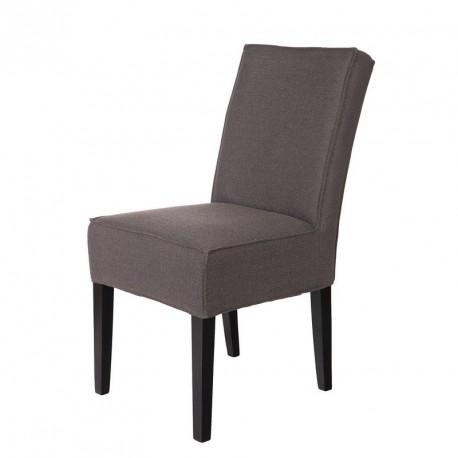 chaise design tissu gris taupe woood jesse. Black Bedroom Furniture Sets. Home Design Ideas