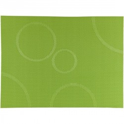 Bovictus Green circles PVC table mat, placemat