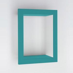 Etagère tôle laquée rectangulaire turquoise presse citron bighigh