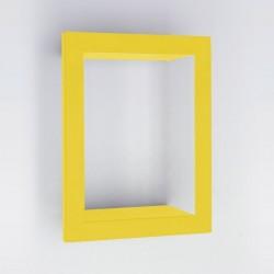 Etagère murale jaune presse citron bighigh acier laqué mat
