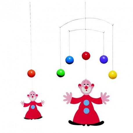 Mobile flensted clown jongleur