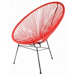 La Chaise Longue Acapulco Lounge Chair red