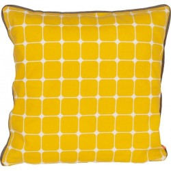 Cushion cover yellow present time tiles 45  x 45 cm
