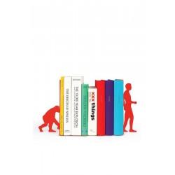 Serre-livres original rigolo Evolution rouge DOIY