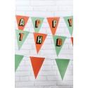 Guirlandes fanions bannière anniversaire happy birthday