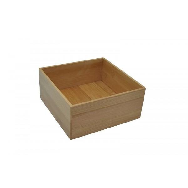 Boîte de rangement carrée bois bambou opportunity