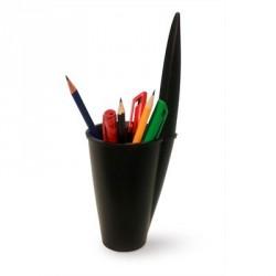 Porte crayons design noir bouchon bic pen j-me
