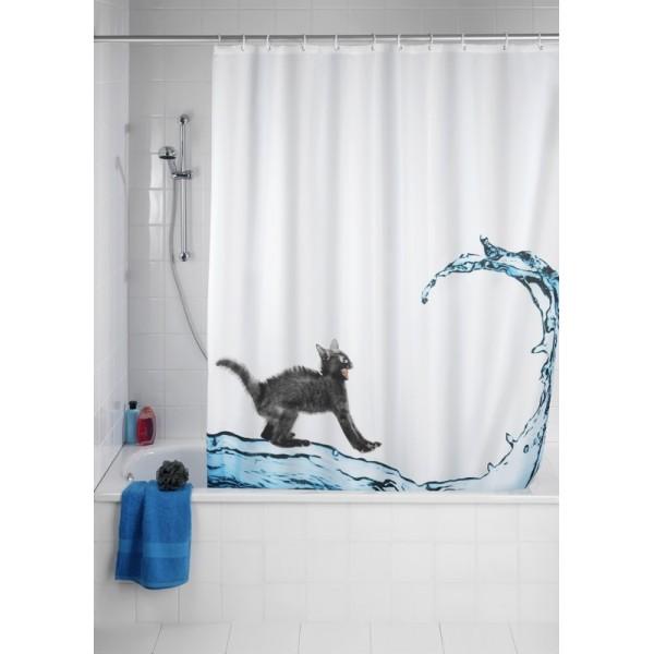 rideau de douche chat my blog. Black Bedroom Furniture Sets. Home Design Ideas
