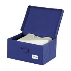 Boîte de rangement bleue avec couvercle wenko air L