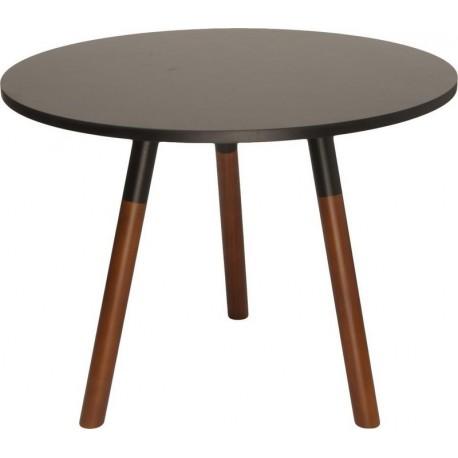 Table basse ronde noire bois leitmotiv revolve - Tables basses noires ...
