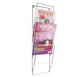 Wall Metal Magazine Rack Gloss