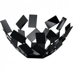 Corbeille à fruits métal noir alessi scirocco ø 27