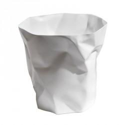 Poubelle design froissée bin bin mini essey blanche