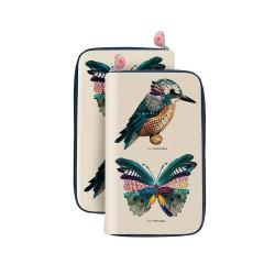 Portefeuille original oiseau papillon bonjour mon coussin oisyflorus