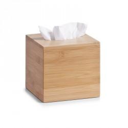 Boîte à mouchoirs carrée en bois de bambou zeller