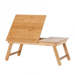 Table de lit plateau inclinable bois de bambou