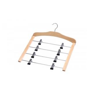 Cintre pour 4 jupes en bois métal