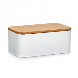 Zeller 25370 Bread Storage Bin, metal white matt