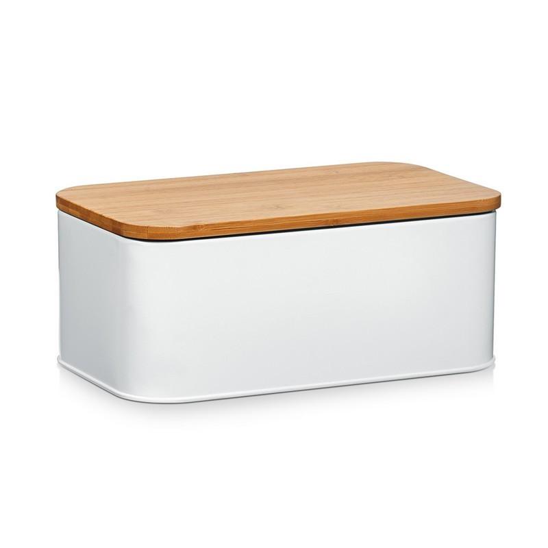 boite pain design blanche m tal zeller. Black Bedroom Furniture Sets. Home Design Ideas