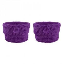 Zone Denmark confetti cesta para mujer lila set 2