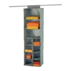 Wenko liberta étagère en textile à suspendre penderie gris