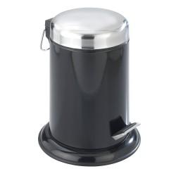 Wenko Retoro poubelle salle de bains à pédale métal noir 3 L