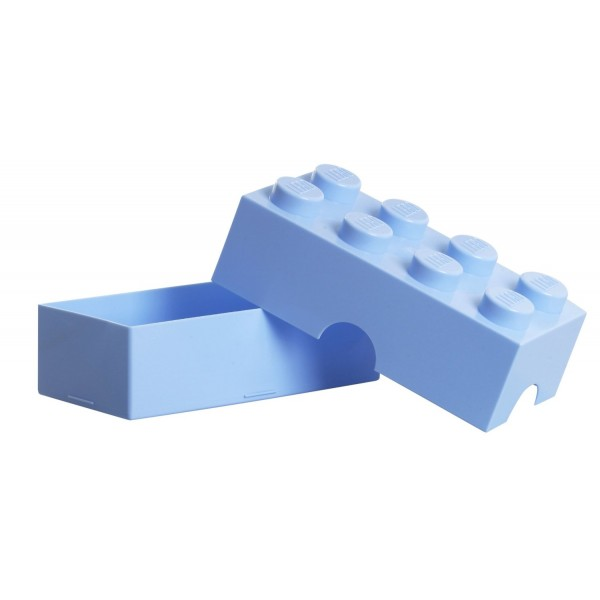 rangement boite lego l 8 plots bleu clair