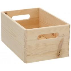 Boîte de rangement en bois massif pin zeller 13140