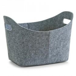 Corbeille en feutrine grise zeller 37 x 28 x 25 cm