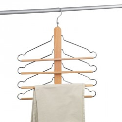 Cintre en bois porte-pantalons zeller 17122