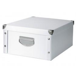 Boite de rangement blanche carton zeller 40 x 33 x 17 cm