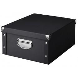 Boîte de rangement noire en carton zeller 40 x 33 x 17 cm