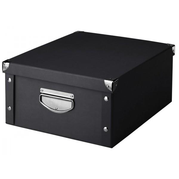 boite de rangement noire en carton zeller 17928. Black Bedroom Furniture Sets. Home Design Ideas