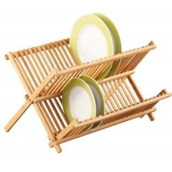 Egouttoir vaisselle en bambou zeller 42 x 35 x 27,5 cm