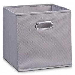 Boite de rangement en tissu gris, 28 x 28 x 28 cm Zeller